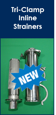 New Monarch Tri Clamp Inline Strainer