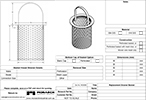 Replacement Strainer Basket Drawing